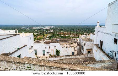 Puglia Coast View From Ostuni Medieval Town