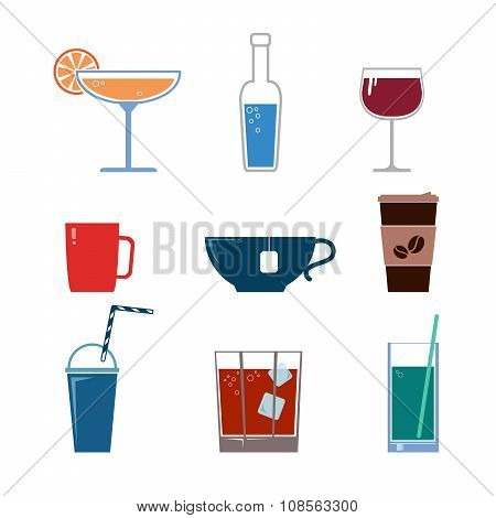 Drink vector icons