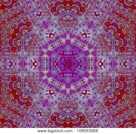 Seamless hexagon pattern red purple