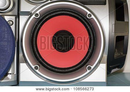 Loudspeaker is red