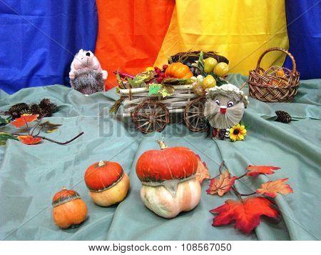 Autumn Ukrainian folk designs