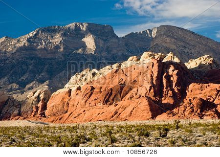 The Scenic Roadway around red Rock Canyon