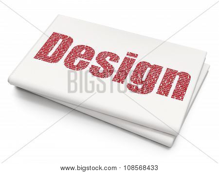 Advertising concept: Design on Blank Newspaper background