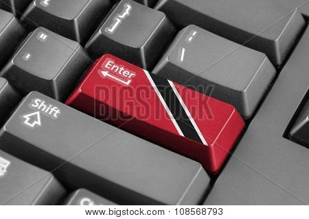 Enter Button With Trinidad And Tobago Flag