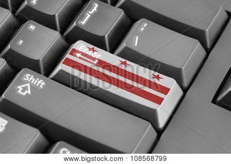 Enter Button With Washington Dc Flag