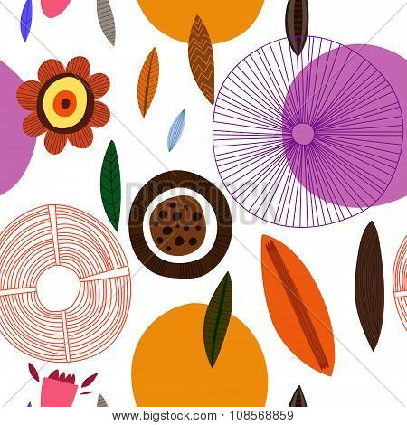 Vector Abstract Pattern. Seamless Pattern Can Be Used For Wallpaper, Pattern Fills, Web Page Backgro