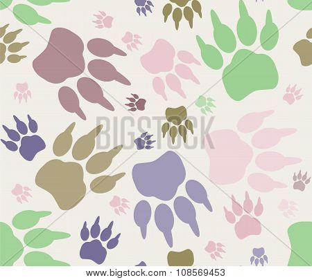 Seamless paw print