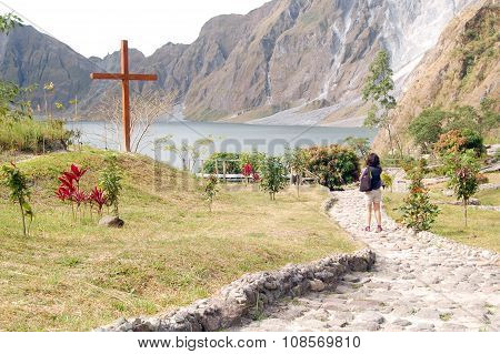 Crater of Mount Pinatubo Cross and Path in Tarlac, Philippines