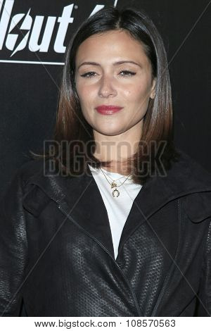 LOS ANGELES - NOV 05:  Italia Ricci at the Fallout 4 video game launch  at the downtown on November 05, 2015 in Los Angeles, CA