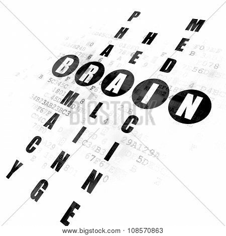 Health concept: Brain in Crossword Puzzle