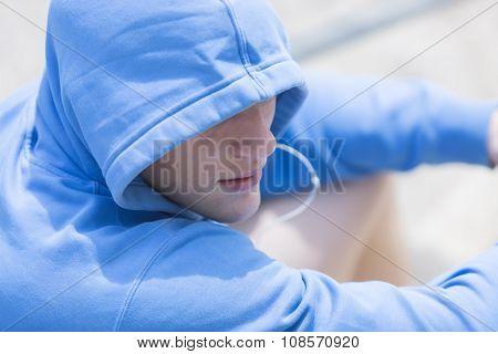 Portrait Of A Runner Resting.