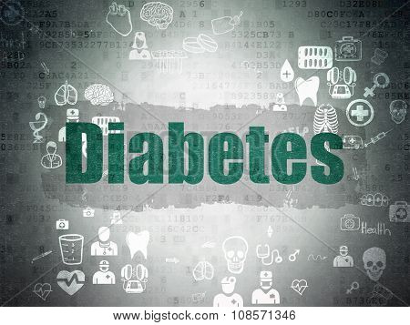 Healthcare concept: Diabetes on Digital Paper background