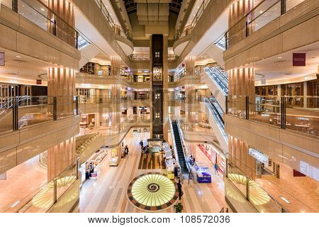 TOKYO, JAPAN - SEPTEMBER 1, 2015: Domestic Terminal Mall of Haneda Airport.