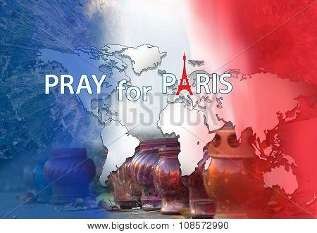 Pray For Paris. Banner