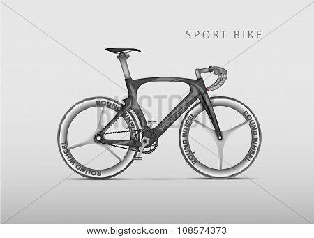 Vector realistic racing bicycle road racing