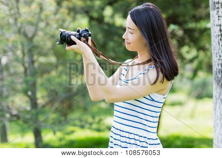 Photographed Woman In The Park