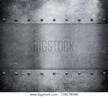 grunge metal armour background with rivets