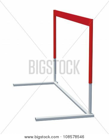 Treadmill barrier on white background