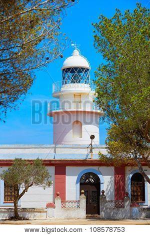 Sant Antonio Cape Lighthouse in Javea Denia in Alicante of Spain