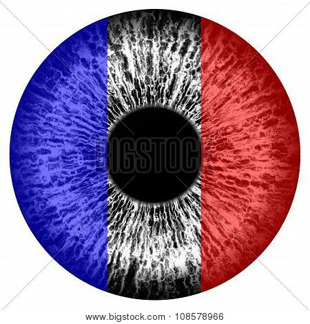 Human Eye - Designed In French Tricolor