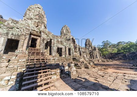 Entrance To Upper Terrace Of Prasat Bayon  Temple