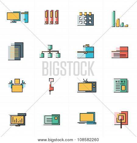 Office Icons Set Design