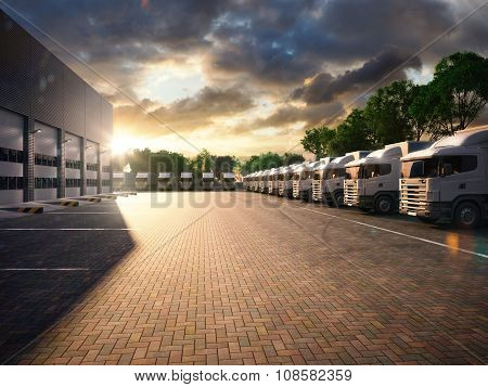 Freight Trucks parked
