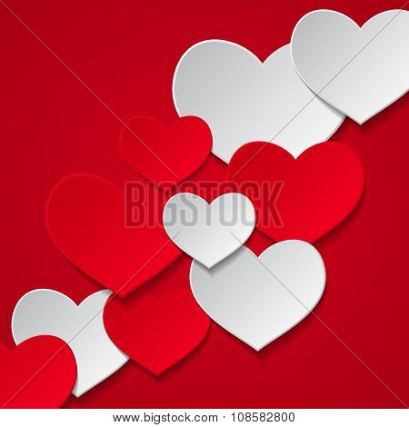 hearts red background