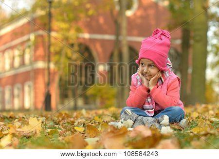 Cute little girl sitting