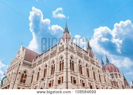 Parliament In Budapest. Hungary