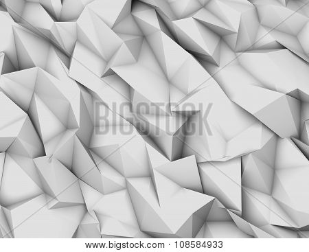 Light White And Grey Triangulated 3D Background Render Illustration