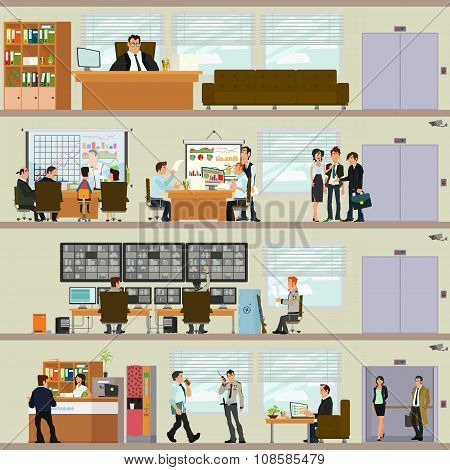 scenes of people working in the office