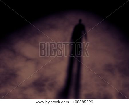 Shadow Of A Men. Dark Human Nature Idea.