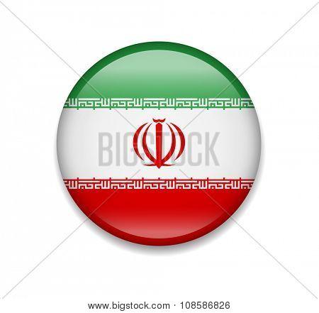 Iran Button Flag