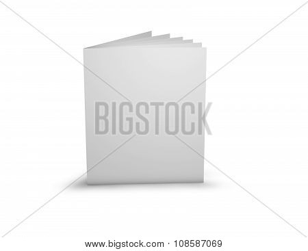 Advertising Promotional Brochure With Blank Cover.