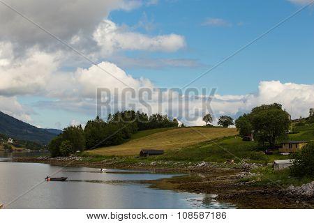 Empty Coast Of Fjord