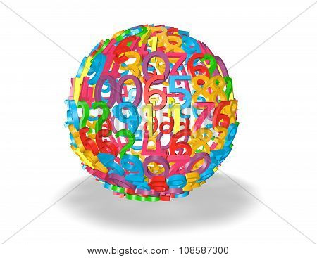 Colorful Ball Of Numbers.