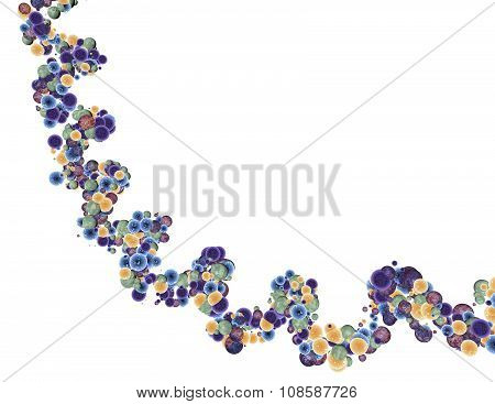 Abstract Dna Helix 3D Model, Illustration  Isolated On White.