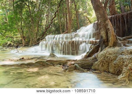 Waterfall In National Park Forest