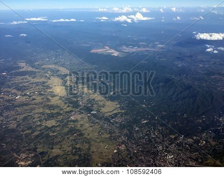 Top view of Chiangmai city in Thailand