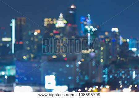 Blur city lights at night