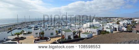 The  marina area of  Playa Blanca Lanzarote