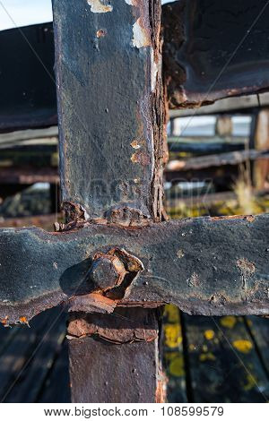 Rusted Steel Connections From Close
