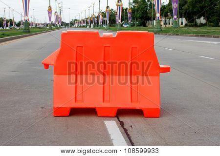 The big orange barrier