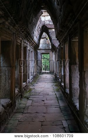 Gallery In Baphuon Temple, Part Of The Angkor Thom  City