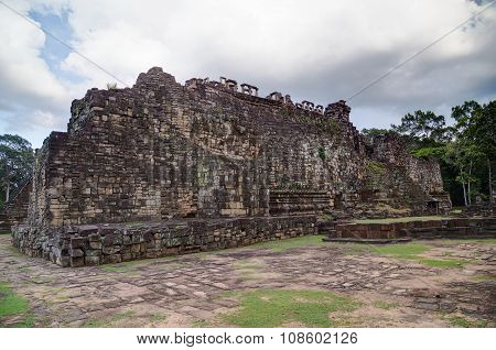 Reclining Buddha Face In Baphuon Temple, Angkor Thom  City