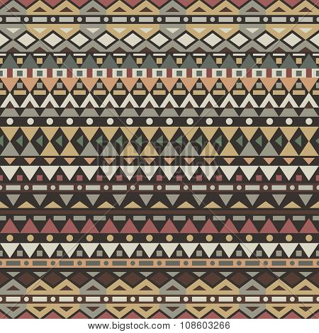 Tribal Vector Seamless Pattern.