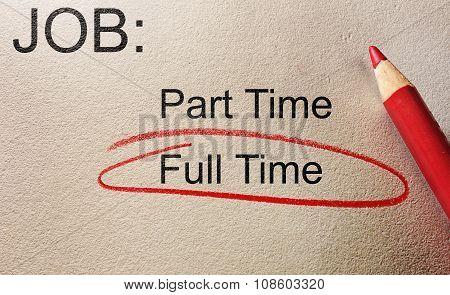 Full Time Job