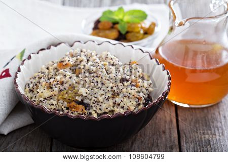 Russian traditional dish Kutia made from wheat