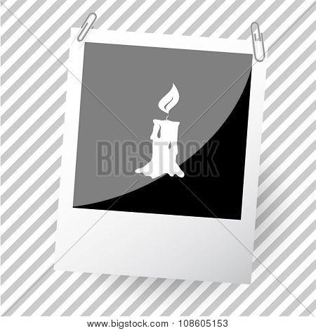 candle. Photoframe. Raster icon.